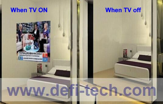 MIRROR TV GLASS, Magic Advertising Display Mirror