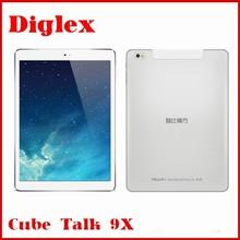 9.7inch 2048x1536 IPS Cube Talk9X U65GT MT8392 Octa Core Android 4.4 WCDMA 3G Phone Call 9x Tablet PC Camera Bluetooth GPS