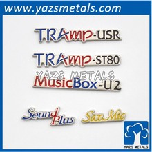 factory cheap price metal nameplate pin letters