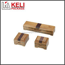 Handmade wooden jewelry gift box with magnet