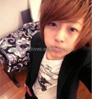 Boys wig New fashion Korean men's short male hair M13138 natural hair wig for men
