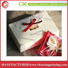 Free sample food packaging wax coated paper food box 20'*20'
