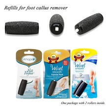 Velvet Smooth Express Pedi Foot File callus remover Replacement Roller Heads Refills