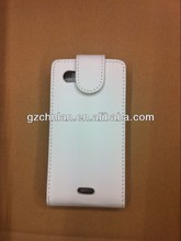Factory price plain color PU leather flip case for iphone4