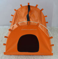 Wholesale foldable three color pet tent