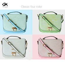 Classic four colors mini ladies top PU shoulder bag wholesale