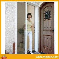 Aluminium retractable fly screen door
