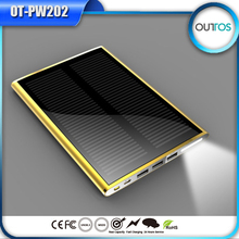 2015 cool Design wholesale Solar Battery Panel Charger portable solar power bank power mobile for Cell Mobile Phone