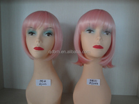 Fashion Pink Short Bobo Synthetic Cosplay Wig
