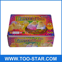 Plastic Bright Pastel Easter Eggs Easter Toys Decorative Colorful Chicken Eggs, Set of 12