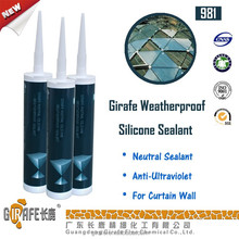 Good quality hot sale RTV UV resistant silicone sealant for glass