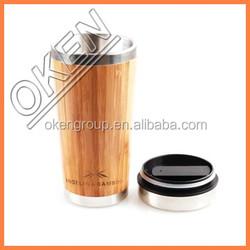 2015 bamboo fiber mug's bottle for drinking,bamboo fiber mug with stainless steel inner