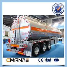 China manufacture 3 axles 42000L aluminum or stainless steel tank trailer sales in 2015