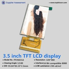 320*480 lcd screen and 3.5 inch tft lcd panel with ILI9488 for industrial/medical use TF35021A.