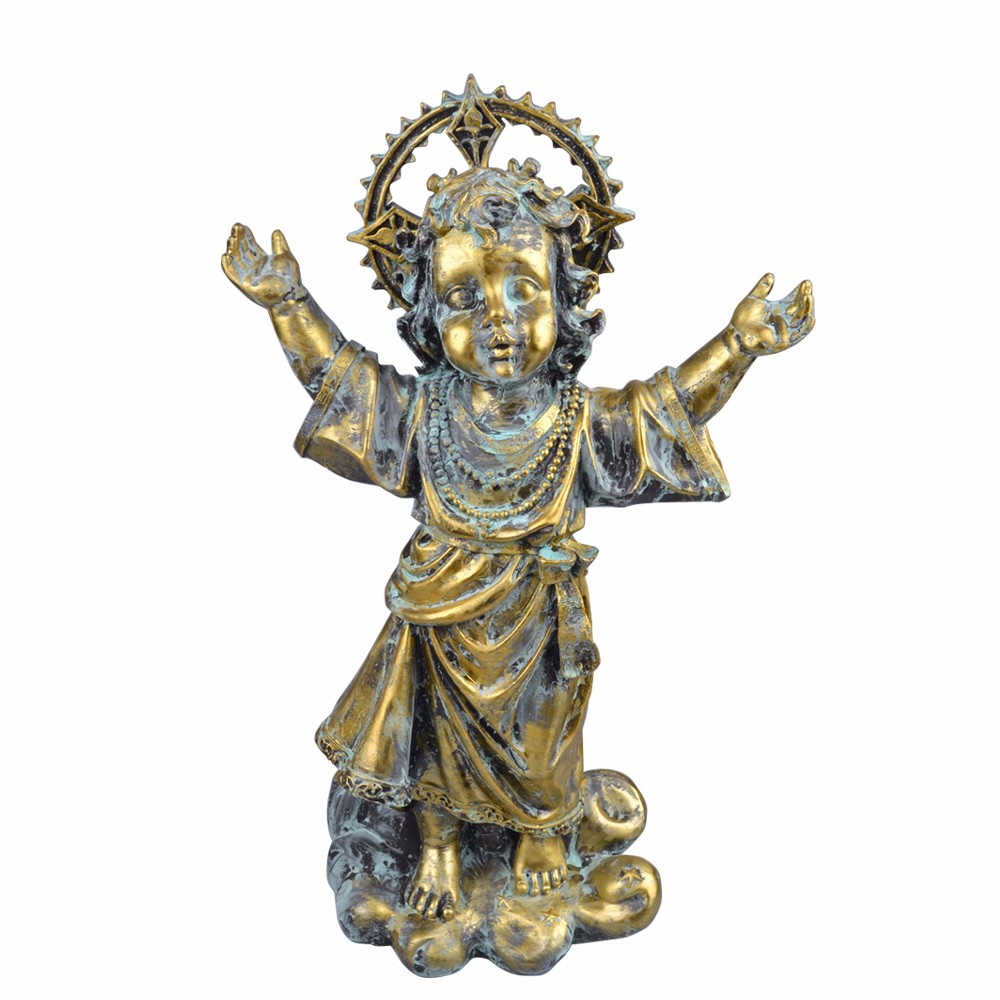 Religious act church decoration antique holy baby jesus statue for sale