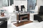 alibaba 2013 móveis de madeira mesa de jantar com tampo de vidro projetos