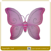 Butterfly wings for kid party decoration top quality pink pattern butterfly fairy wing