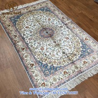 4x6ft hand knotted persian chinese oriental handmade turkish silk rug for sale