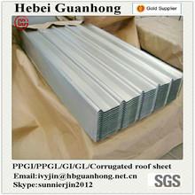 Full hard Ral 9003 Prepainted GI corrugated roof tile