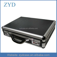 """NEW Road Professional 16.7""""Black Aluminum Locking Laptop Briefcase With Pockets ZYD-HZMlc006"""