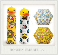 Animal Shape Handle Folding Duck Umbrella