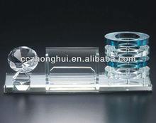 Crystal pen holder with base