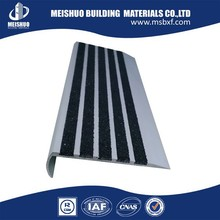 Cost-Effective aluminum tread of stairs with carborundum inserts