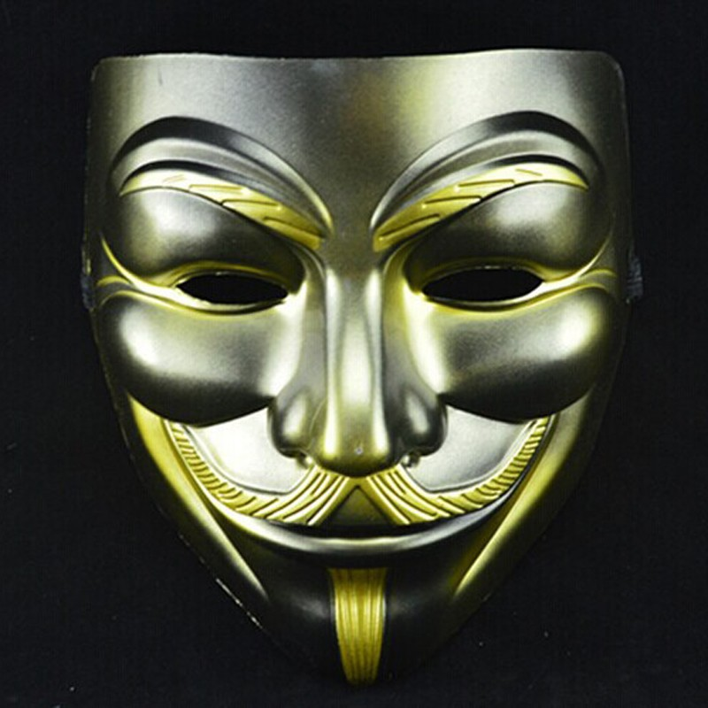 Halloween Anonymous Hacker Vendetta Guy Face Mask Cosplay Costume Fancy Dress