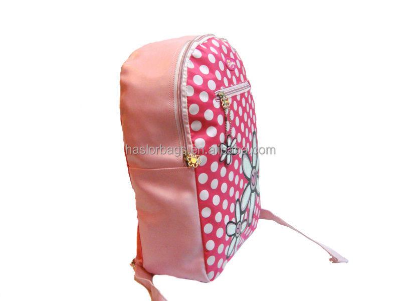 Hotselling nouveau Design et de la mode rose PU enfants sac à dos / sac d'école