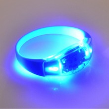 glow wristband Party Items Manufacture LED Shock Sensor Glow Bracelets Wristband With Logo Printing For Party Concert