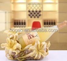 custom handpainted orchid resinic wine bottle holder