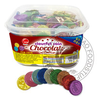 Colorful Chocolate coin Box dark chocolate box
