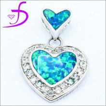 Heart shape opal charm lady heart shape opal charm silver opal charm