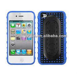 mobile phone case for iphone 4 snap tail stand case