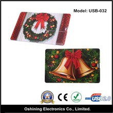 Color card usb flash drive festival usb flash disk(USB-032)