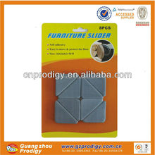 4MM thickness adhesive plastic furniture glides for chairs