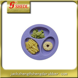Silicone Baby and Toddler Divided Plate - Purple