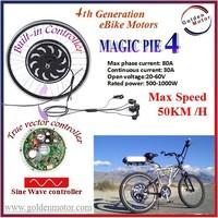 24V/ 36V/ 48V/ 200W/500/ 1000W Golden Motor Magic Pie 4 Electric Bicycle Hub Motor conversion kit