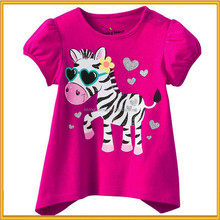 2015 little girl model top 100 T-shirts ,girl fashion T-shirt for summer