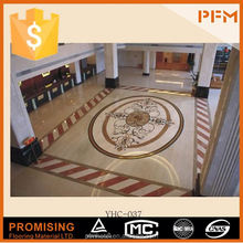 domestic natural A quality polished marble tile floor medallion
