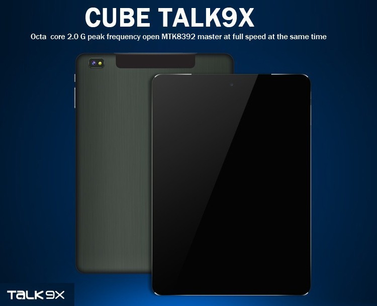 Cube Talk 9X U65GT MT8392 Octa Core 2.0GHz Android 4.4 Tablet PC 9.7 inch 3G Phone Call 2048x1536 IPS 8.0MP Camera 2GB/32GB