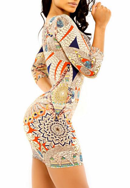 работа Восток вязание 851 сексуальная мода женщин bodycon клуб платье национальные старинные печати элегантный цифровой повязку платье