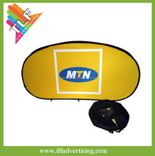 Horizontal Auto Pop Up Banner Oval A frame banner