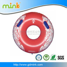 Cheap price inflatable red whirl floating tube raft with handle