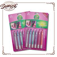 Promotional 6 color professional face paint sticks, non toxic kids organic face paint set, neon face paint pen for face and body
