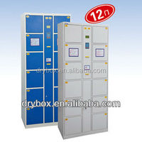 EX-factory sell 12 doors electronic locker barcode locker:CT-12