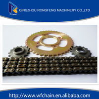 custom 45Mn motorcycle roller chain 420 428 428h and sprocket,motorcycle sprocket and gear