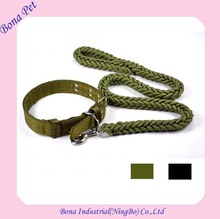 Factory Supply Heavy Duty Nylon Braided Rope Dog Leashes and Collar for Large Dog