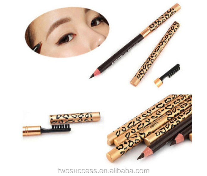 double sided automatic eyebrow pencil with brush