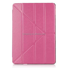2015 new covers for ipad, foldable leather cover case for ipad mini